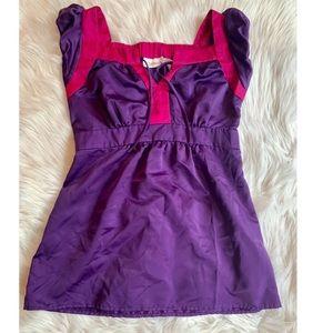 Silk short-sleeve blouse